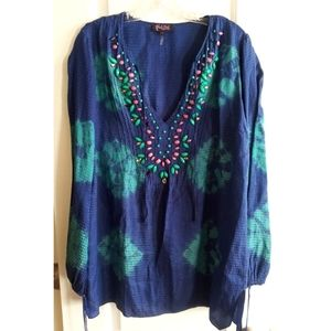 Hale Bob Silk Cotton Tunic! Sz: L